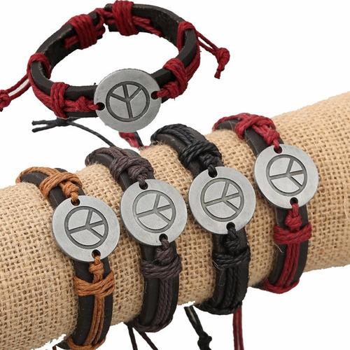 pulsera de cuero para mujer y hombre unisex bonitos diseños