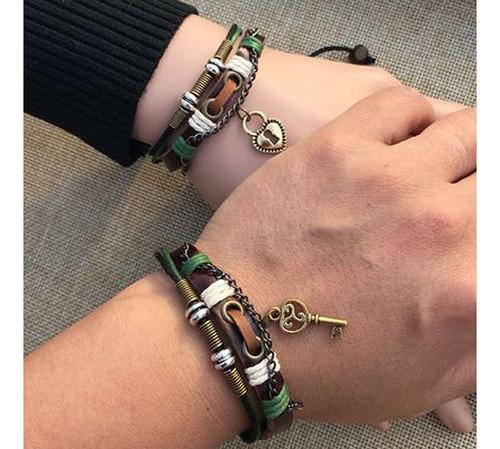 pulsera de cuero para pareja