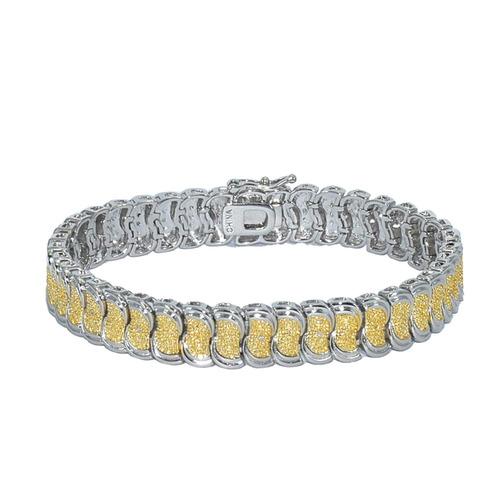pulsera de eslabones chapada en oro de 18 k, brazalete ...