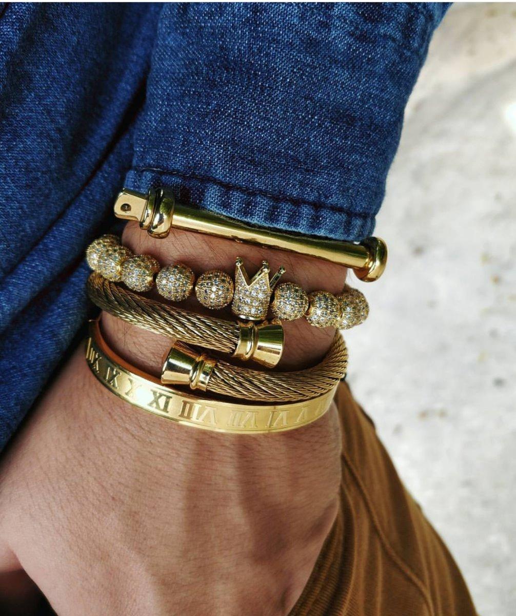 41ff7a3e586e pulsera de hombre caballeros n° romanos dorado moda 2019. Cargando zoom.
