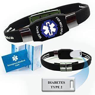 """pulsera de identificación de alerta médica """"diabetes"""