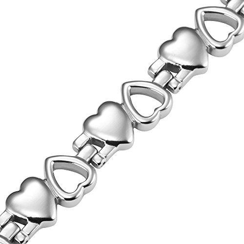 pulsera de la terapia magnética de titanio del corazón del