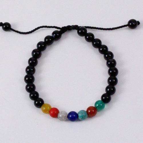 pulsera de los 7 chakras piedras naturales
