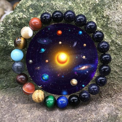 pulsera de los 8 planetas de piedra natural 18.5cm