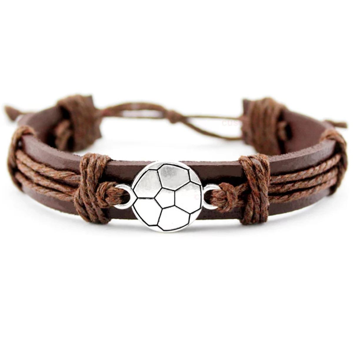 06c93f88062f Pulsera De Moda Para Caballero Dije Fútbol Soccer -   179.00 en ...