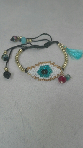 pulsera de ojo turco con balines