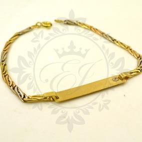 e692c5c650a1 Pulsera De Oro 18 K Identidad Para Grabar Pulseras De Oro