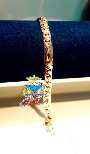 pulsera de oro 18k lomo corvina hombre cc35 esclava jespaña