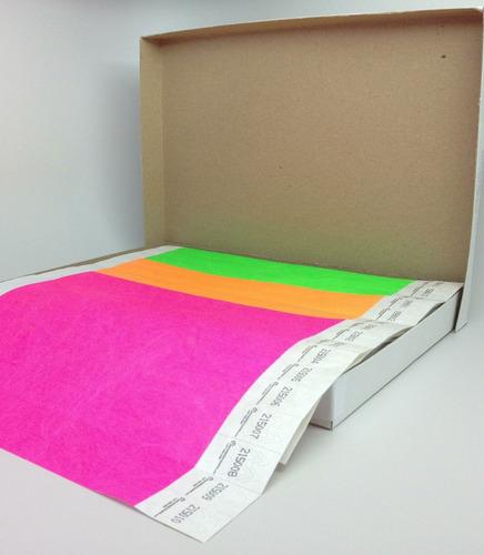 pulsera de papel tyvek desechable 3/4´´ x 10´´ 500 piezas
