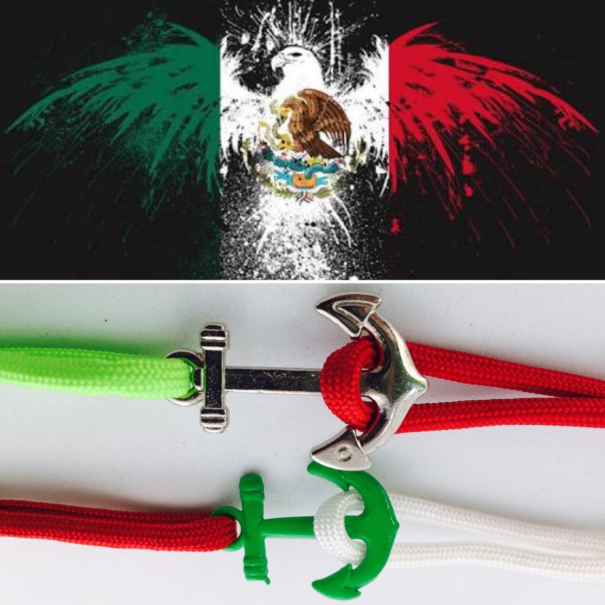 67fbc90f1a9e Pulsera De Paracord Con Ancla Bandera De Mexico -   19.00 en Mercado ...