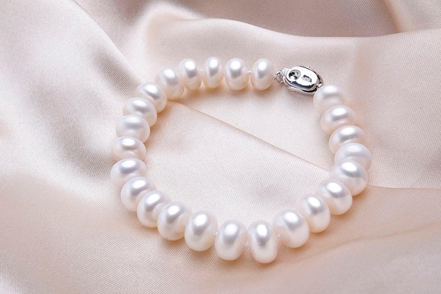 ab39918f4592 pulsera de perlas cultivadas con plata. Cargando zoom.