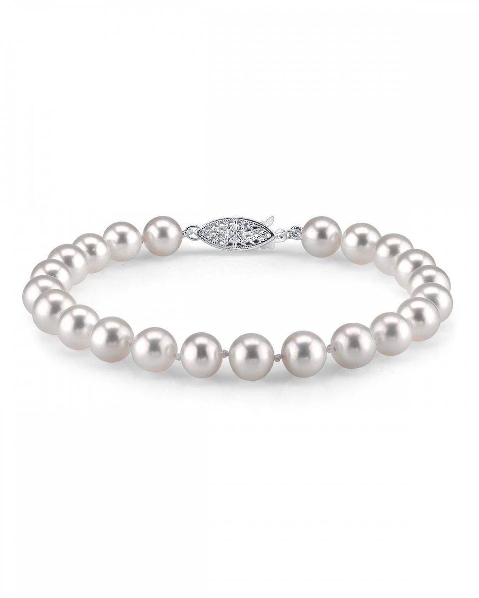 dfcbee5a48d1 pulsera de perlas cultivadas de agua dulce 7-8mm - calida. Cargando zoom.