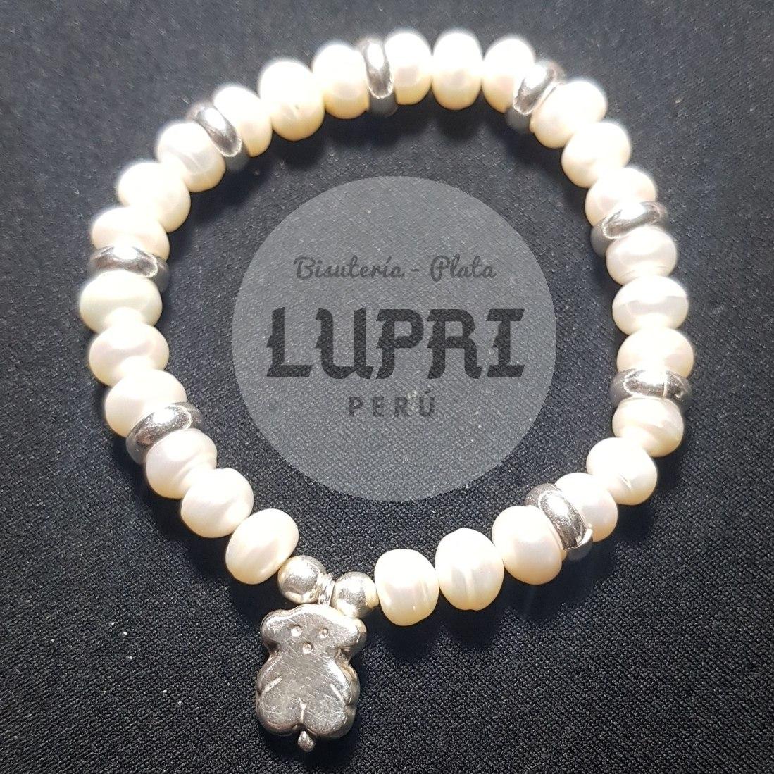 cf48110b201a pulsera de perlas naturales con accesorios de plata 950. Cargando zoom.