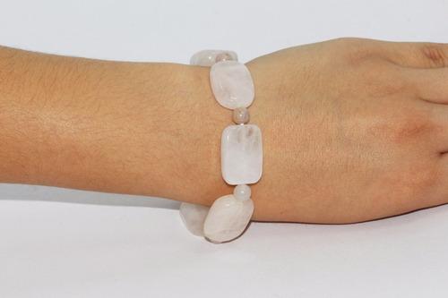 pulsera de piedra natural cuarzo blanco chakras  ppn291