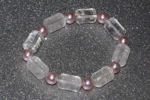 pulsera de piedra natural cuarzo cristal chakras ppn506
