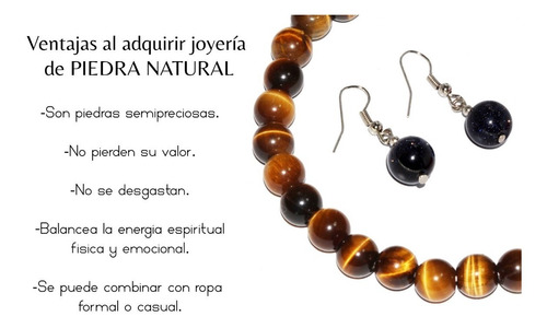 pulsera de piedra natural jaspe ágata cuarzo chakras ppn551