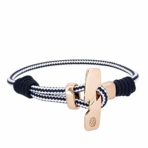 pulsera de piel para hombre cavetta rope navy white blue