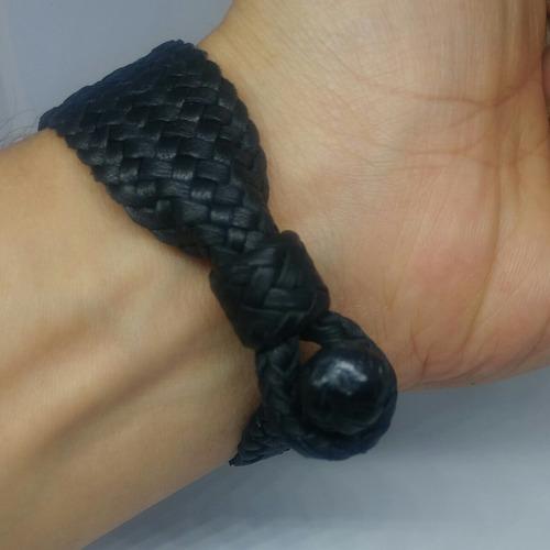 pulsera de piel trenzada (cuero)