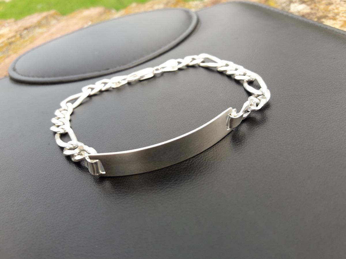7343674f98b1 pulsera de plata 925 de hombres idal para hacer grabar xz98. Cargando zoom.