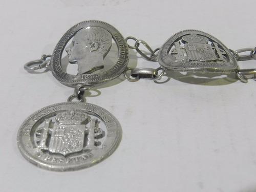 Calado artistico de cincuentines, impresionante resultado (video) Pulsera-de-plata-925-realizada-c-monedas-espanolas-caladas-D_NQ_NP_525211-MLA20510021681_122015-O