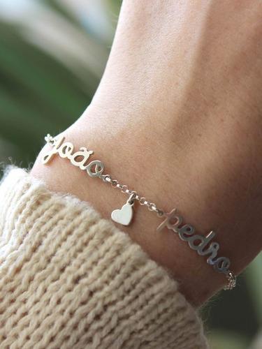 pulsera de plata 950 mujer personalizada dijes brazaletes