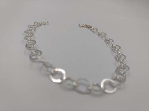 pulsera de plata fina 925 dama brillante 20cm 6mm para mujer
