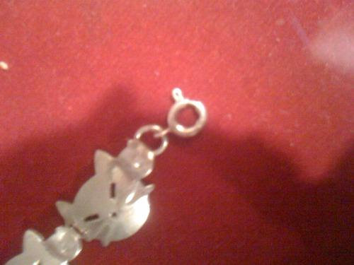 pulsera de plata gatitos