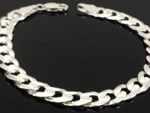 pulsera de plata ley 925 tejido cubano 15grs21.5cmx7mm p180