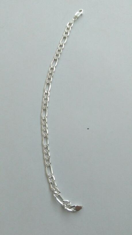 f10c3d491a2c pulsera de plata para hombre figaro 3x1 6 mm. Cargando zoom.