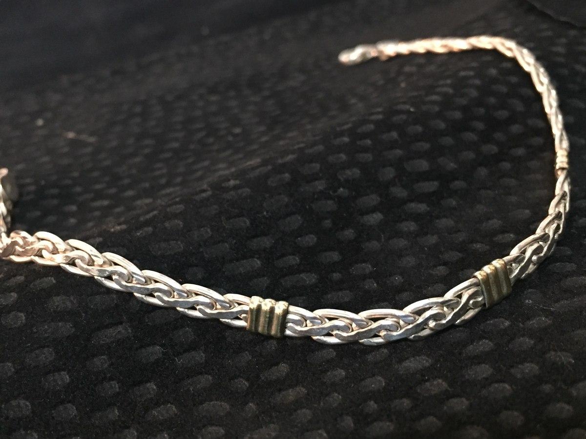 af1876947089 pulsera de plata y oro para hombre. Cargando zoom.