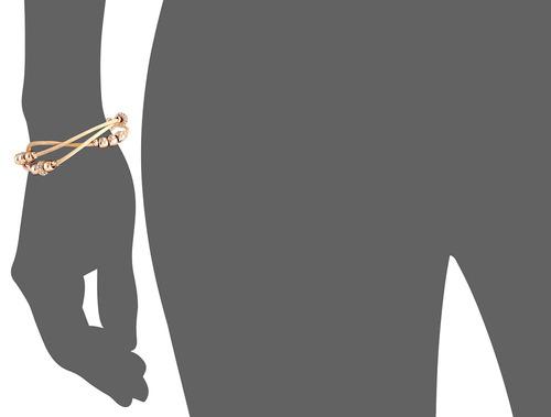 pulsera de pulsera de cuero fossil rondel