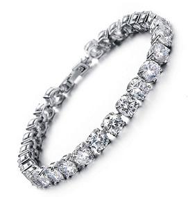 39f45ce01b52 Pulsera De Tenis Con Swarovski Elements Crystal Jewelry L