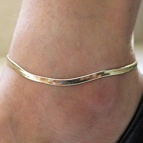 2986e8a26cab Pulsera De Tobillo De Cadena De Plata  oro Para Mujer -   394.99 en ...