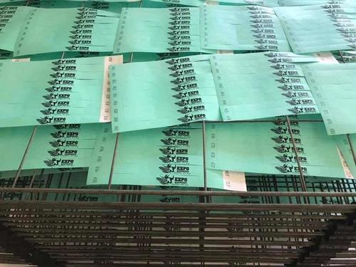 pulsera de tyvek impresa a una tinta 1000pzs