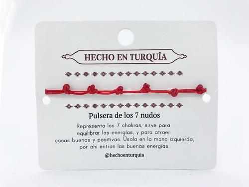 pulsera del hilo rojo con 7 nudos