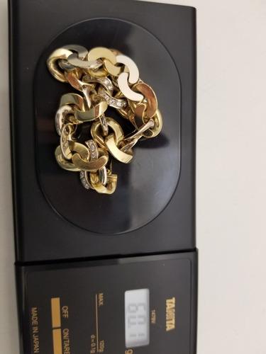 pulsera de.oro blanco y amarillo.18 kl