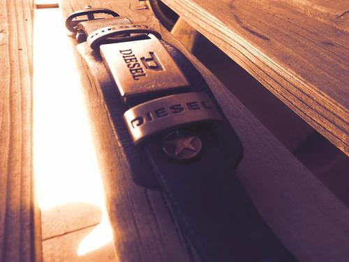 pulsera diesel de cuero/metal !