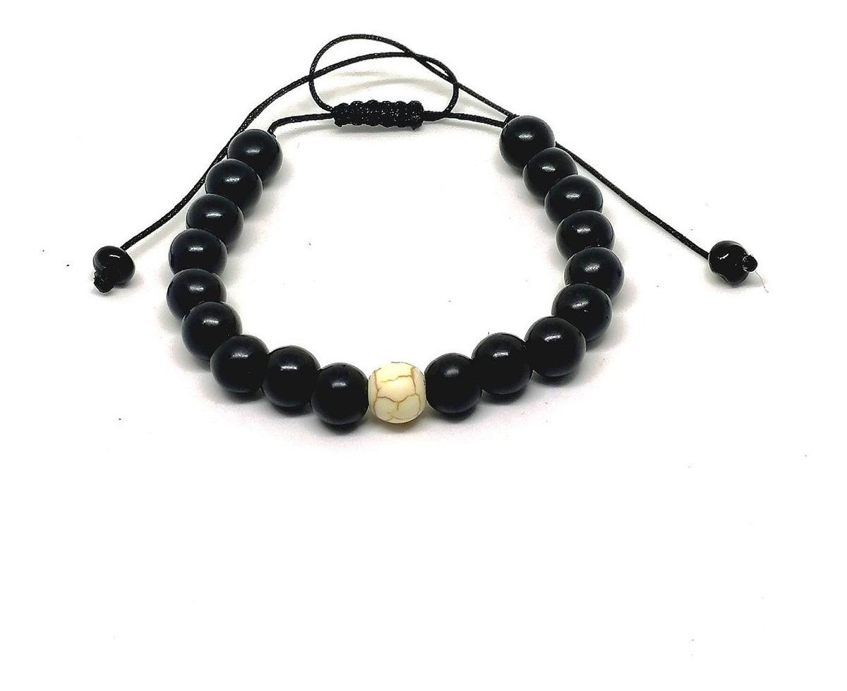 59bf0ee40040 Pulsera Distancia - Yin Yang Piedras Naturales Unisex