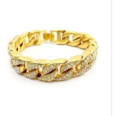 pulsera dorada con piedras para hombre brazalete caballero
