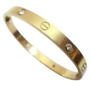 063f3107fef0 Pulsera En Acero Cartier Diamantes Dama Mujer Kylie Dorado