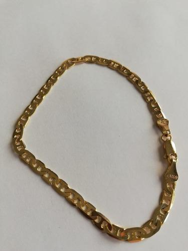 pulsera esclava brazalete tejido gucci oro 10k 21cm 6g 5mm + envío gratis + paño limpiador + estuche + meses s/i