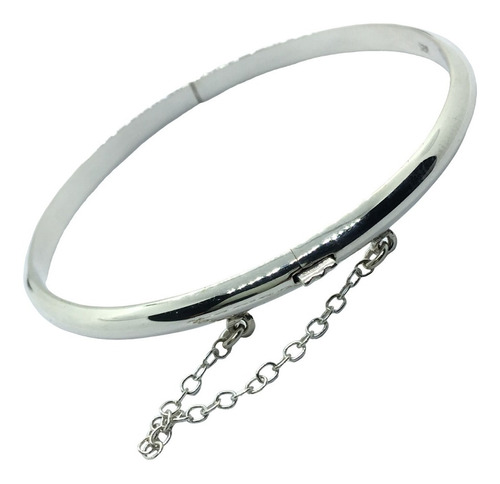 pulsera esclava con cadena seguridad plata 925 (br5,5)