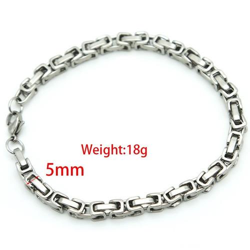 pulsera esclava de acero inoxidable 5mm x 21 cms