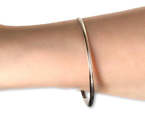 pulsera esclava de plata 925 ancho 3 mm