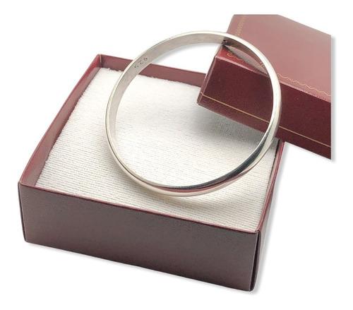 pulsera esclava de plata 925 ancho 7 mm