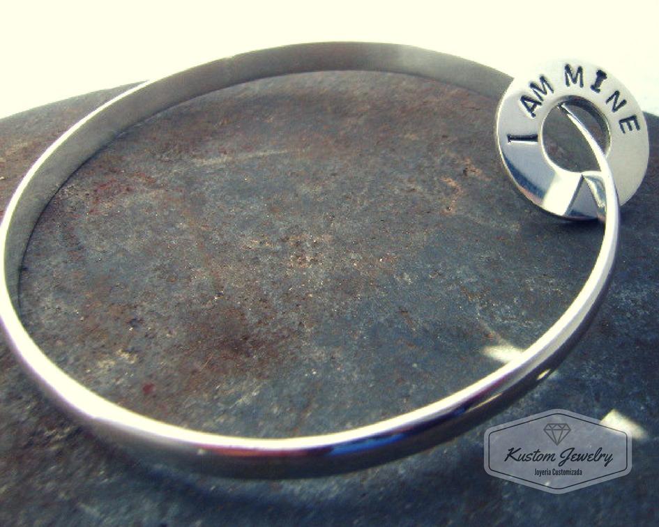 3dfac2c1daca pulsera esclava media caña maciza 6mm hecha a mano plata 925. Cargando zoom.