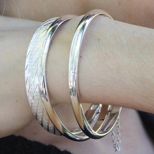 pulsera esclava plata 925 con cadena de seguridad (br4,5)