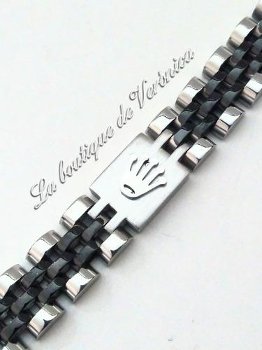 pulsera esclava rolex jubile acero inoxidable corona placa