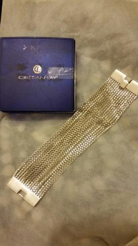 pulsera estilo brazalete bisuteria fina cristian lay. 18 cms