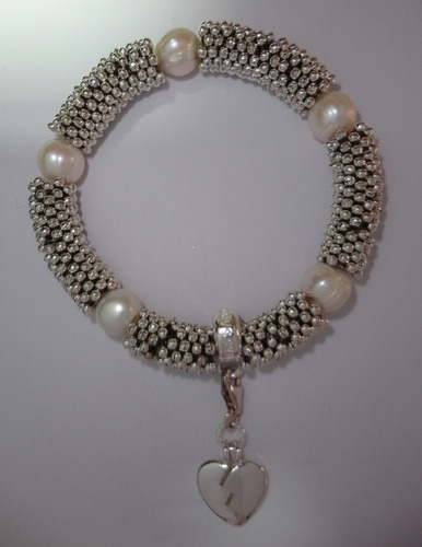 pulsera estilo europeo perlas originales snowflakes dije ts